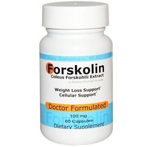 Advance Physician Formulas, Forskolin, Coleus Forskohlii Extract, 100 mg, 60 Capsules