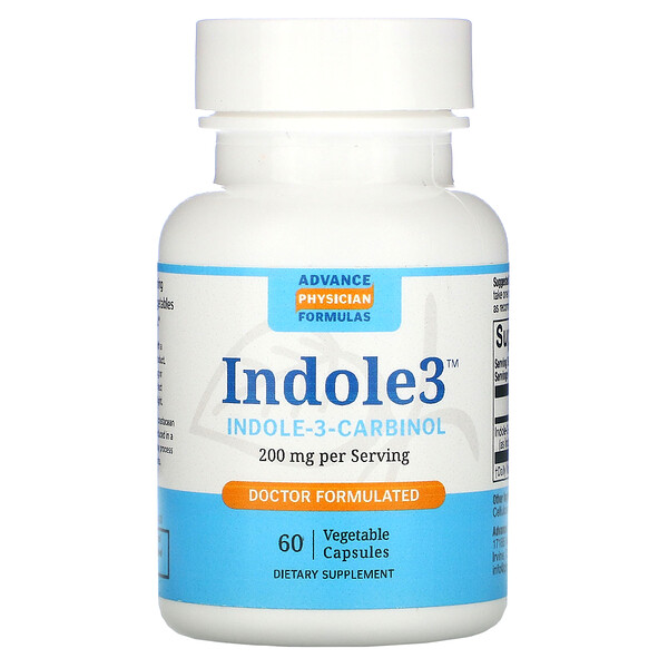 Indole-3-Carbinol, 200 mg, 60 Vegetable Capsules
