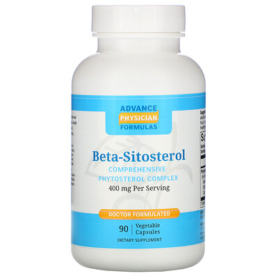 Купить Advance Physician Formulas Beta-Sitosterol, 400 mg, 90 Vegetable Capsules