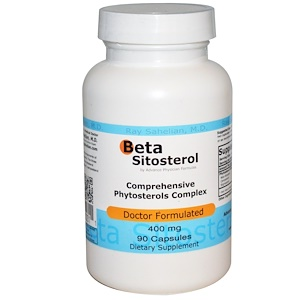Advance Physician Formulas, Inc., Бета-ситостерол (Beta Sitosterol), 400 мг, 90 капсул
