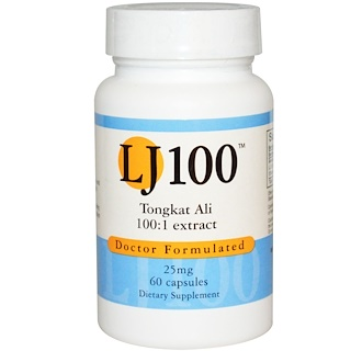 Advance Physician Formulas, Inc., 통캇 알리, LJ 100, 25 mg, 60 캡슐