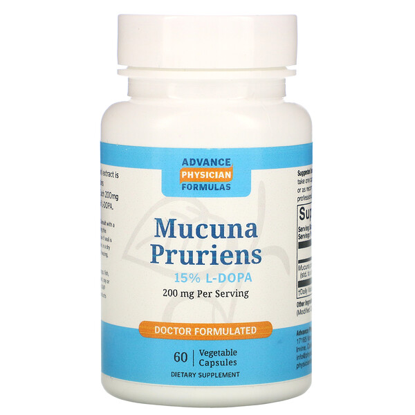 Mucuna Pruriens, 200 mg, 60 Vegetable Capsules