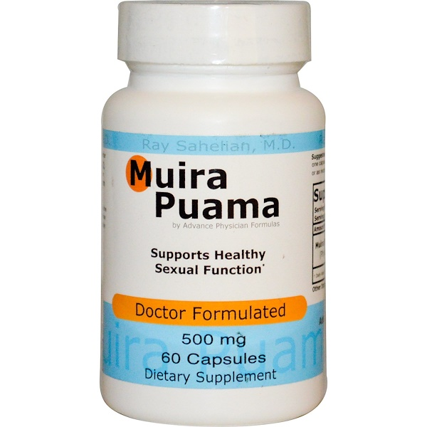 Advance Physician Formulas, Muira Puama, 500 mg, 60 Capsules