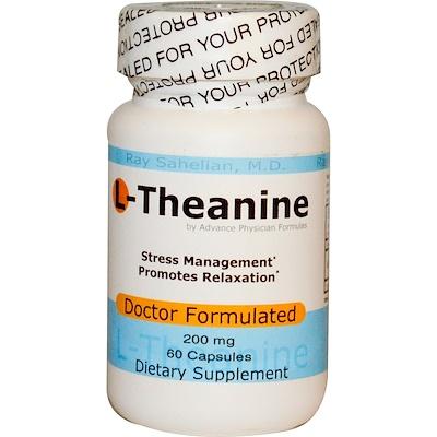 L-теанин, 200 мг, 60 капсул