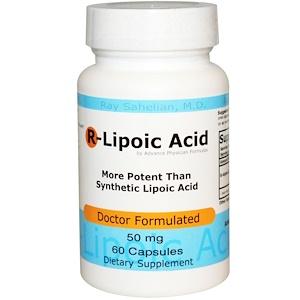 Advance Physician Formulas, Inc., R-липоевая кислота, 50 мг, 60 капсул