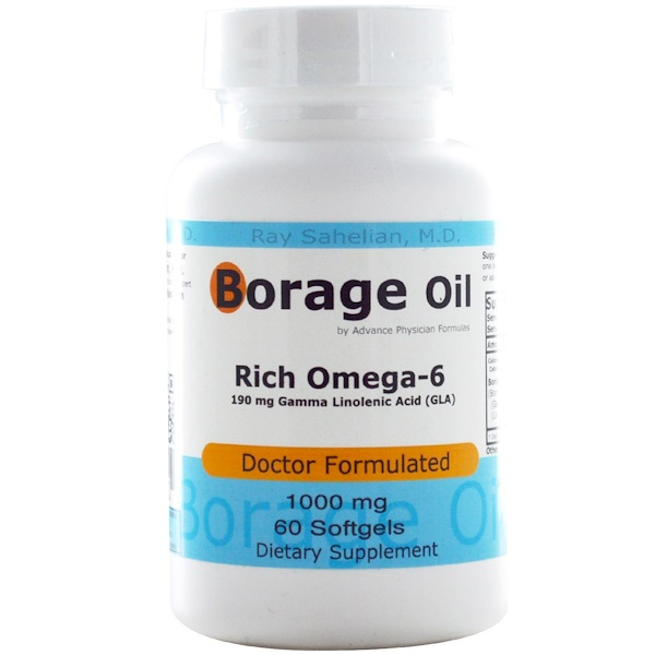 Advance Physician Formulas, Borage Oil, 1000 mg, 60 Softgels