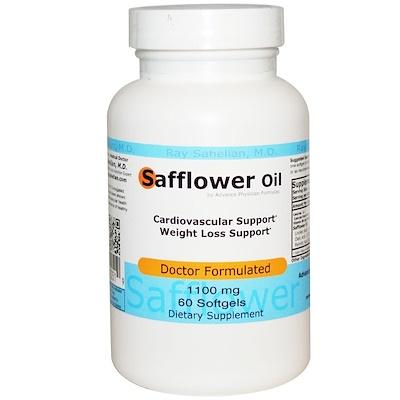 Сафлоровое масло, 1100 мг, 60 капсул