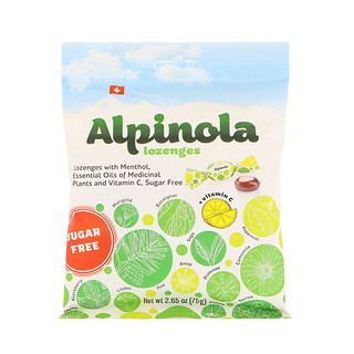 Alpinola, Lozenges with Menthol, Essential Oils and Vitamin C, Sugar Free, 2.65 oz (75 g)