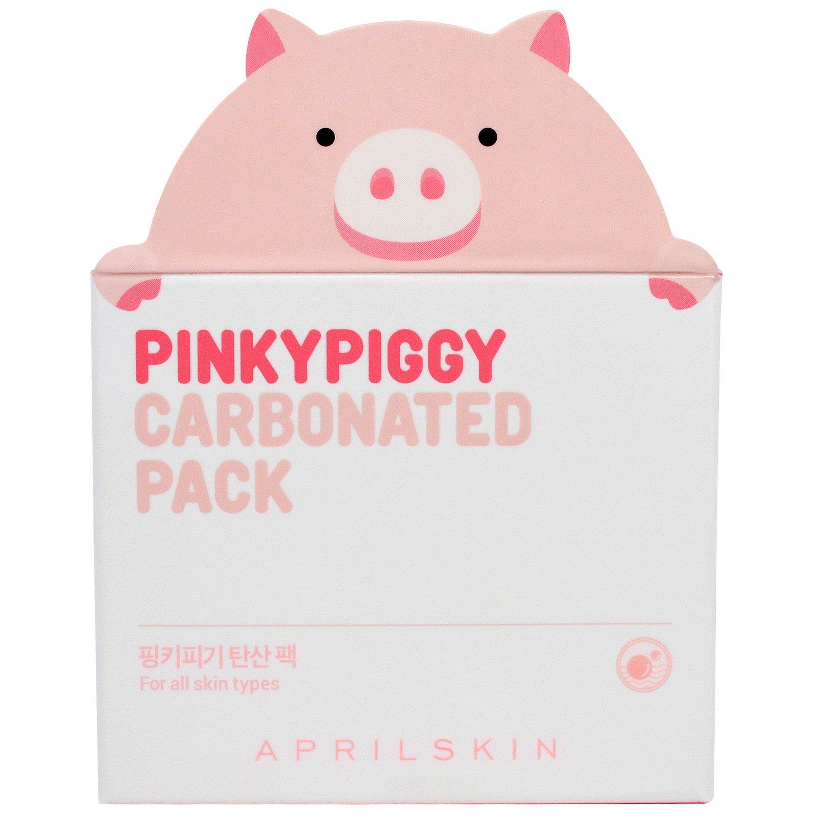 April Skin, PinkyPiggy Карбонизированная маска, 3,38 унций (100 г)