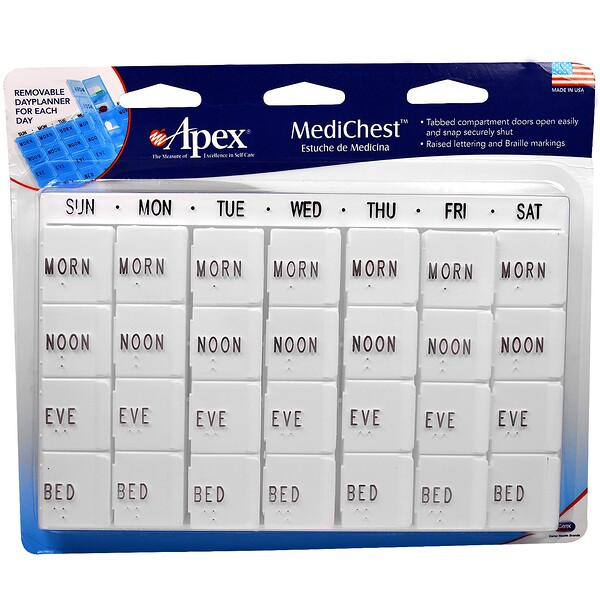 Apex, MediChest, Vitamin and Medication Organizer