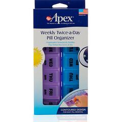Apex, Weekly Twice-A-Day Pill Organizer, 1 Pill Organizer