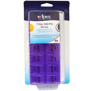 Apex, органайзер для таблеток на 7дней, утро/вечер, 1шт.