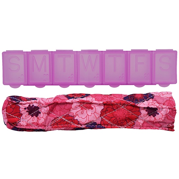 Apex, Pill Organizer with Decorative Sleeve, Medium, 1 Pill Organizer (Discontinued Item)