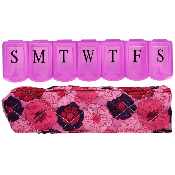 Pill Organizer with Decorative Sleeve, Large, 1 Pill Organizer