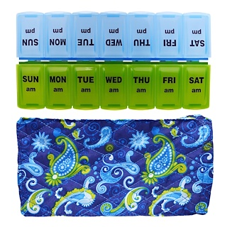 Apex, Pill Organizer with Decorative Sleeve, AM/PM, 2 Pill Organizers