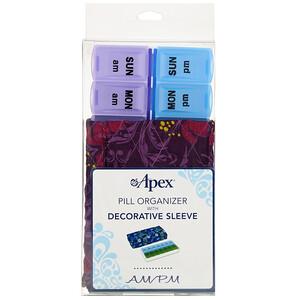 Апекс, Pill Organizer with Decorative Sleeve, AM/PM, 2 Pill Organizers отзывы покупателей