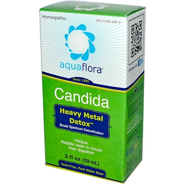 Aqua Flora, 念珠菌,重金屬排毒噴劑,2液體盎司(59毫升)