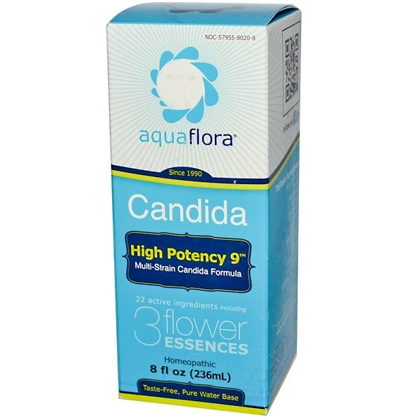 Aqua Flora, Candida, High Potency 9, 8 fl oz (236 ml)