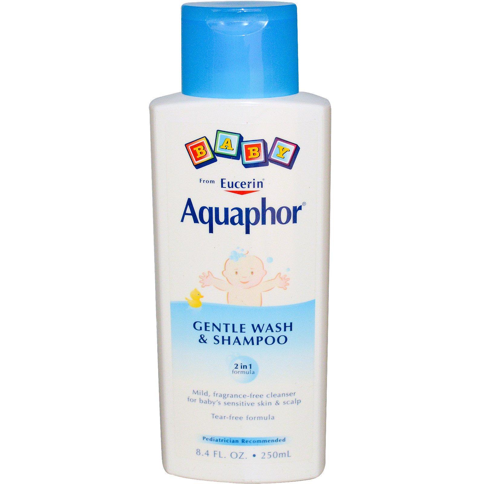 Aquaphor, Нежный детский шампунь и средство для купания, не содержит отдушки, 8,4 жидких унций (250 мл)