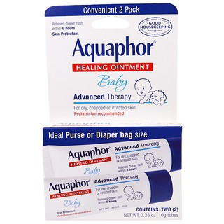 Aquaphor, Baby, Healing Ointment, 2 Pack, 0.35 oz (10 g) Each