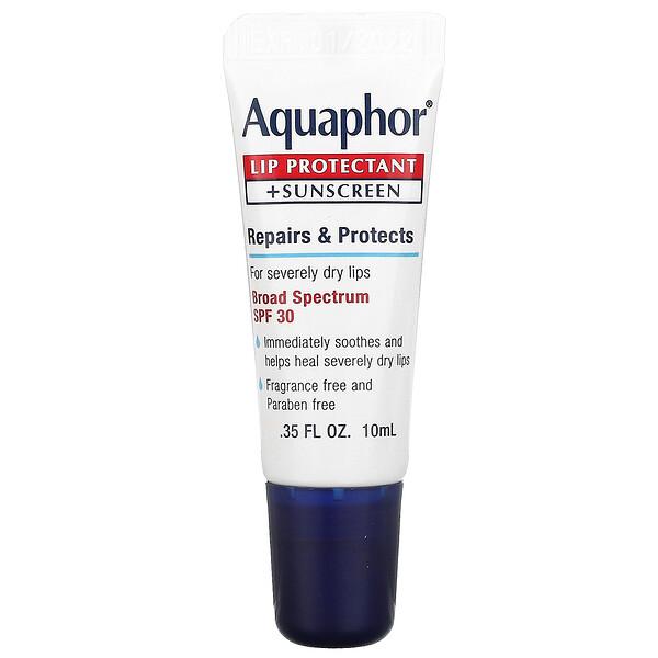 Aquaphor, Lip Protectant + Sunscreen, Broad Spectrum SPF 30,  0.35 fl oz (10 ml)