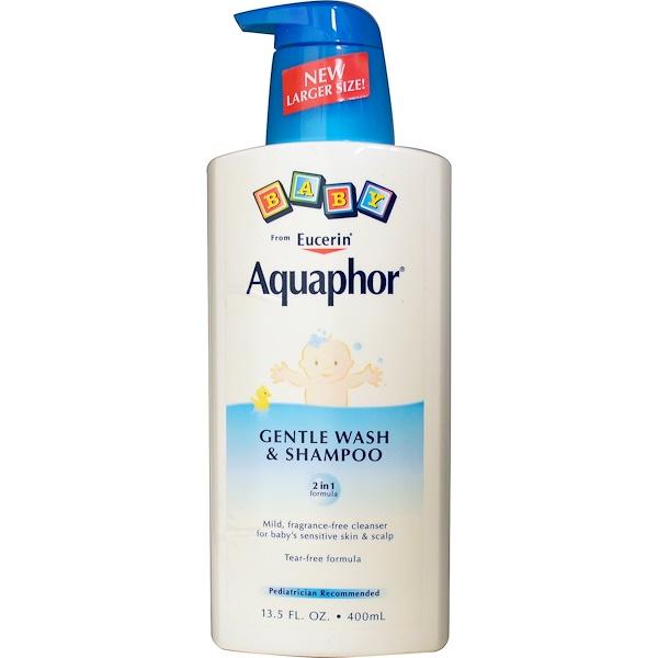 Aquaphor, Детский нежный гель для душа и шампунь, без отдушек, 13,5 жидких унций (400 мл) (Discontinued Item)