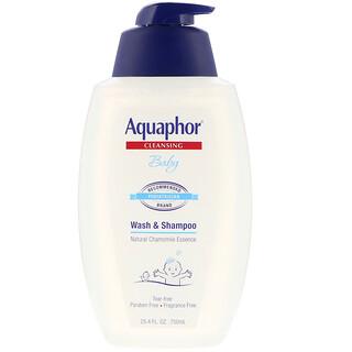Aquaphor, ベビー、シャンプー&ウォッシュ、無香、25.4 fl oz (750 ml)