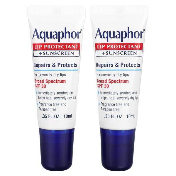 Lip Protectant + Sunscreen, SPF 30, 2 Tubes, 0.35 fl oz (10 ml)