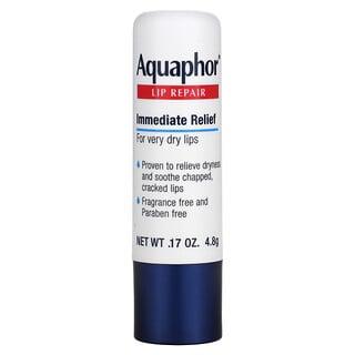 Aquaphor, Barra reparadora de labios, Alivio inmediato, Sin fragancia, 1barra, 4,8g (0,17 oz)