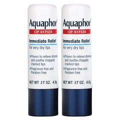 Aquaphor, 脣部修復棒,即時舒緩,2 條,0.17 盎司(4.8 克)