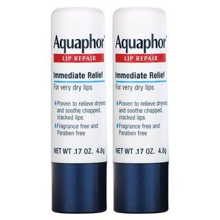 Aquaphor, Lip Repair Stick, Immediate Relief, 2 Sticks, 0.17 oz (4.8 g)
