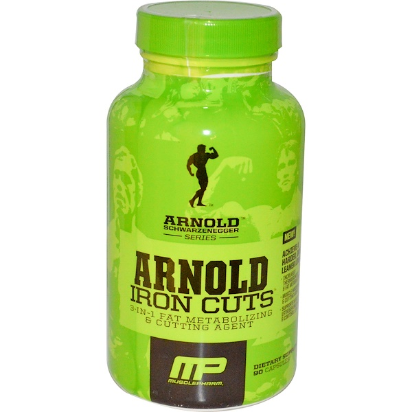 Arnold, Iron Cuts, 3-in-1 Fat Metabolizing & Cutting Agent, 90 Capsules (Discontinued Item)