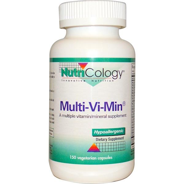 Nutricology, Multi-Vi-Min, 150 Veggie Caps (Discontinued Item)