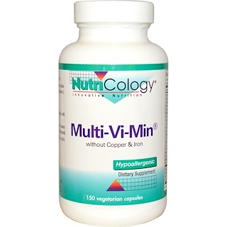 Nutricology, Multi-Vi-Min without Copper & Iron, 150 Veggie Caps
