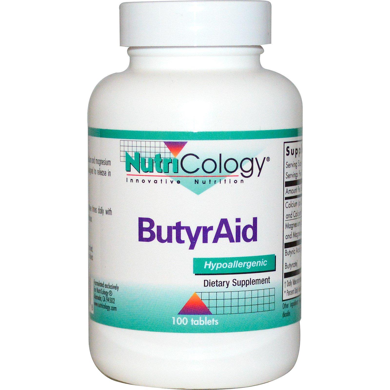 Nutricology, ButyrAid, 100 таблеток
