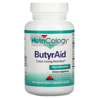 Nutricology, ButyrAid, 100 Delayed-Release Vegetarian Capsules