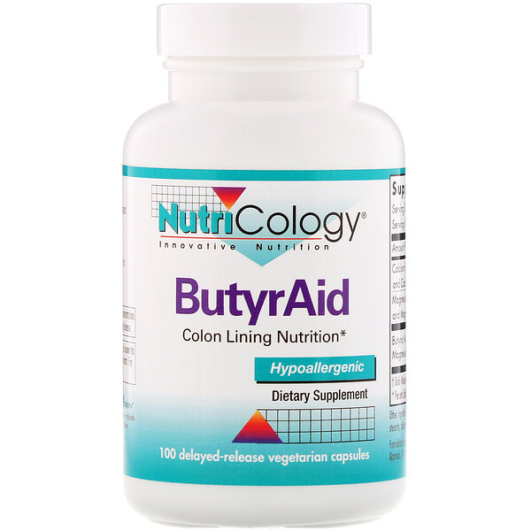 ButyrAid, 100 Delayed-Release Vegetarian Capsules