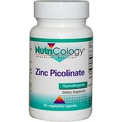 Nutricology, Zinc Picolinate, 60 Veggie Caps
