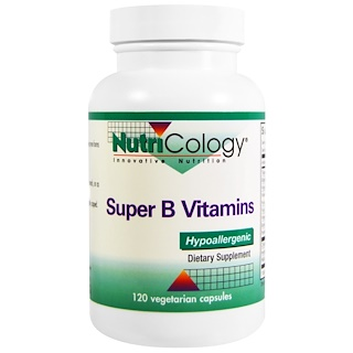 Nutricology, Super B Vitamins, 120 Veggie Caps