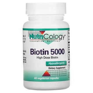 Nutricology, 生物素 5000,60 粒素食胶囊