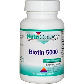 Nutricology, Biotin 5000, 60 Veggie Caps