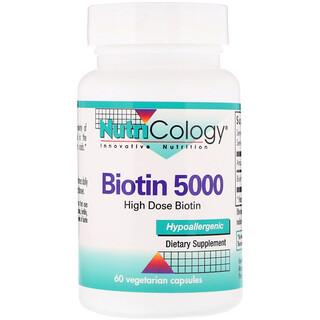 Nutricology, Biotin 5000, 60 Vegetarian Capsules