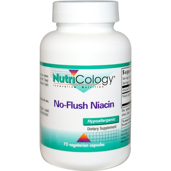 Nutricology, No-Flush Niacin, 75 Veggie Caps (Discontinued Item)