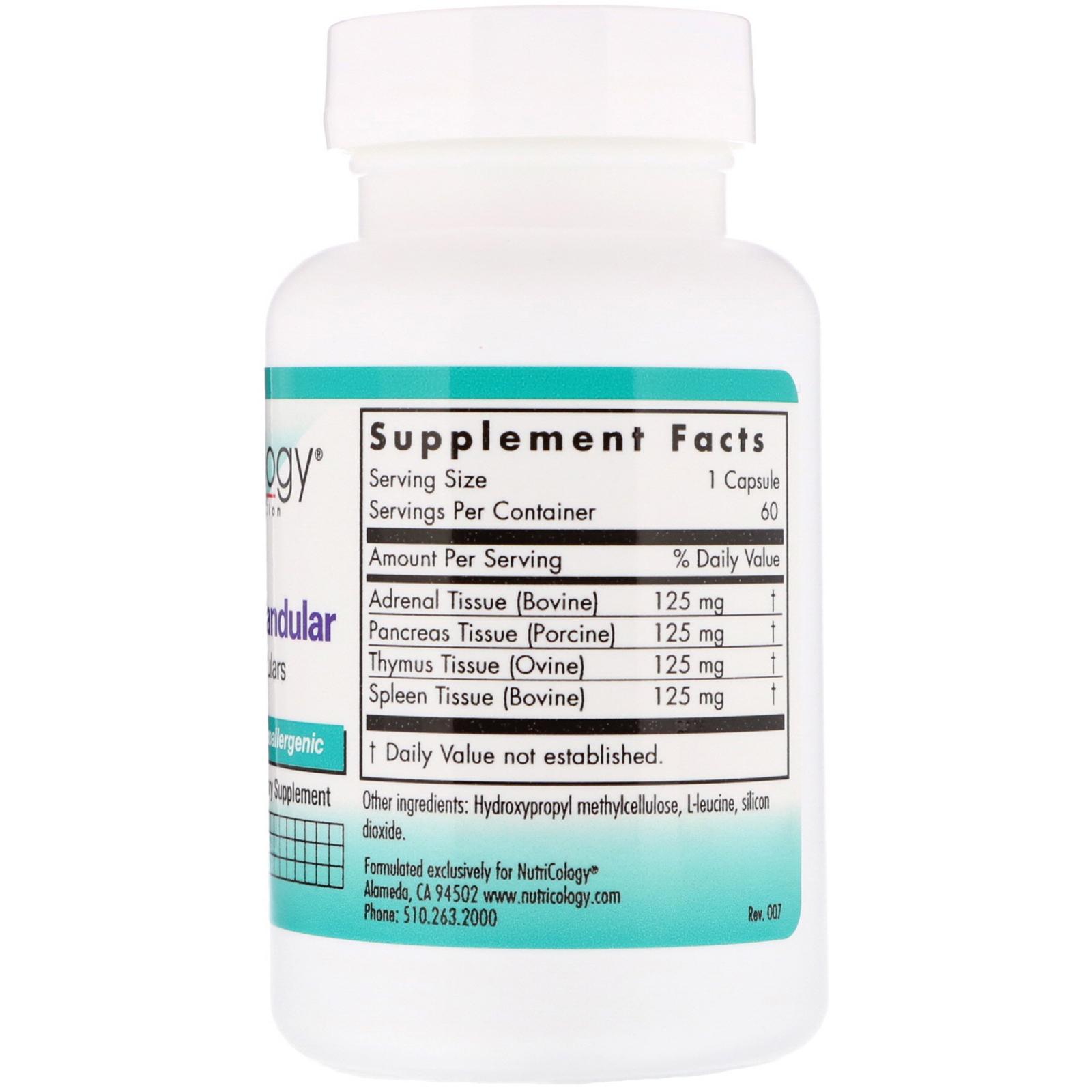 Nutricology, ImmoPlex Glandular, 60 Vegicaps - iHerb com
