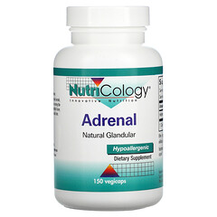 Nutricology, 腎上腺補充劑,天然腺體,150 粒素食膠囊
