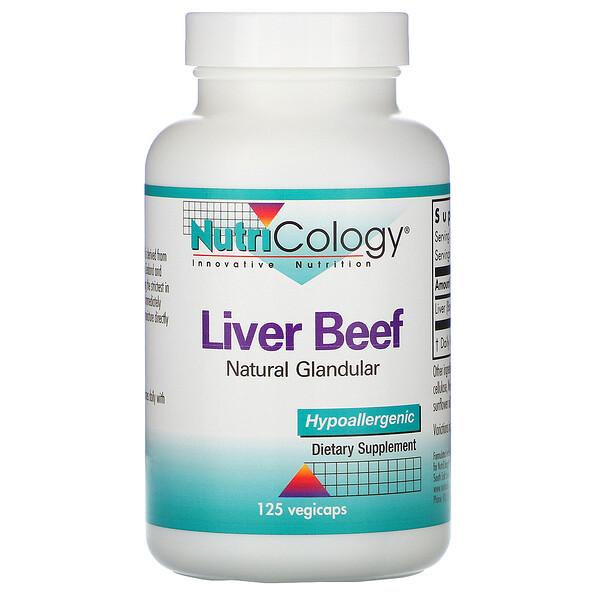 Liver Beef, Natural Glandular, 125 Vegiecaps