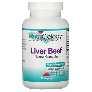 Нутриколоджи, Liver Beef, Natural Glandular, 125 Vegiecaps отзывы