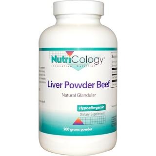 Nutricology, Liver Powder Beef, 200 g Powder