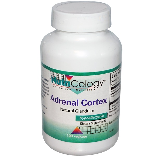 Nutricology, Adrenal Cortex, 100 Veggie Caps (Discontinued Item)