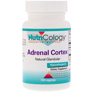 Nutricology, Adrenal Cortex, Natural Glandular, 100 Vegicaps